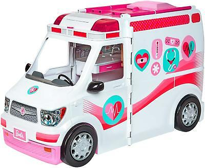 Barbie Care Clinic Van Girls Play Toy Vehicle Rescue Playset Pretend Ambulance