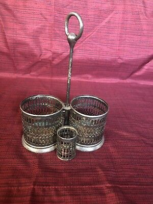 Silverplated Patina Vintage Condiment Holder