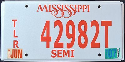 "MISSISSIPPI "" SEMI TRUCK TRAILER - TLR "" 2007 MS Vintage Classic License Plate"