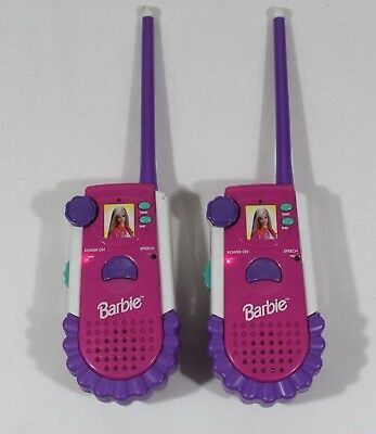 Vintage 1999 Pair of Barbie Pink/White Walkie Talkie Phones BE-225