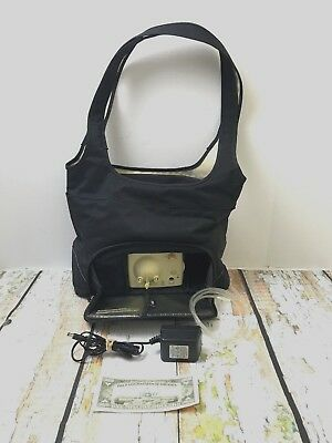 Medea Advanced Double Electric Breast Pump With On The Go Tote Black & Ivory
