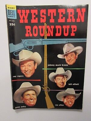 Western Roundup #8 Comic Book Oct.-Dec. 1954 (Dell Comics)