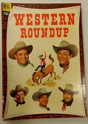 Western Roundup #3 Comic Book July-Sept. 1953 Dell