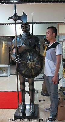 China White Copper Roman Green Guard Warrior Knight Shield Breastplate Armor