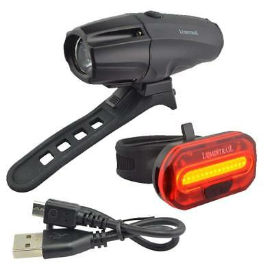 Bicycle Headlight Tail Light Bright Street View For Road Mountain Bike Safety