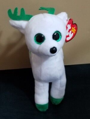 TY Beanie Boo 2017 Retired Holiday Reindeer Peppermint 6 inch NWT's