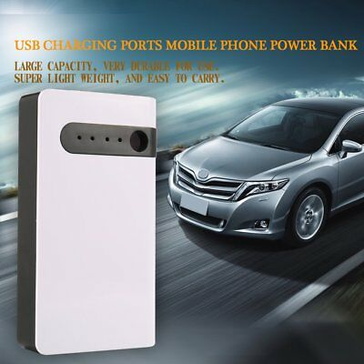 USB Charging Ports Mobile Phone Power Bank Case with LED High Capacity~ RE KA