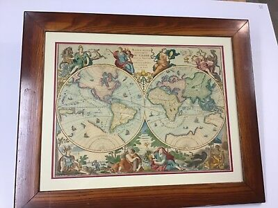 1792 Handcolored Double Hemisphere Map With California As Island