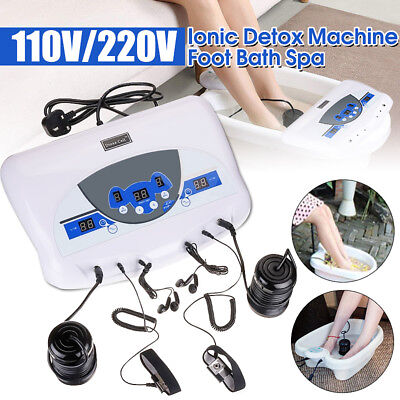 Dual Ion Cell Detox Ionic Foot Bath Spa Cleanse Machine with LCD &