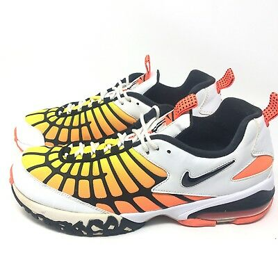Nike Air Max 120 White Black Hyper Orange Yellow 819857-100 Mens Sz 12 Shoes b31a3279e