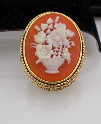 Estee Lauder FLOWERS CAMEO YOUTH DEW SOLID PERFUME Compact FULL