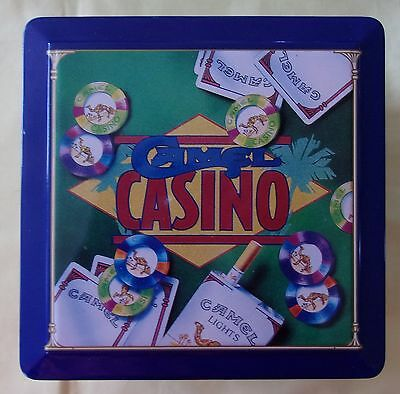 Camel Casino Poker Chip Set New in Tin