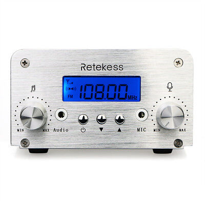 Retekess TR501 1W/6W PLL FM Transmitter Mini Radio Stereo Station +Power+Antenna