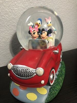 New- Walt Disney Mickey Mouse Clubhouse Car Snowglobe Minnie Donald Duck