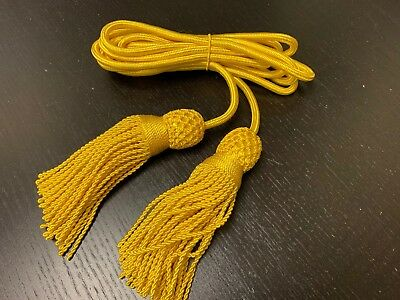Civil War - Silk YELLOW, CAVALRY Cord for Bugle - NEW reproduction, A+ condition