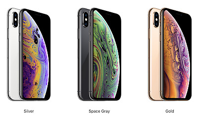 Apple iPhone Xs Unlocked 64GB 256GB 512GB Silver Space Gray Gold ships today