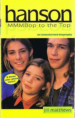 HANSON MMMBOP TO THE TOP Unauthorized Biography by JILL MATTHEWS w/ Color Insert