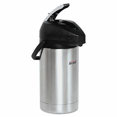Bunn-O-Matic 3 Liter Lever Action Airpot, Stainless Steel/Black