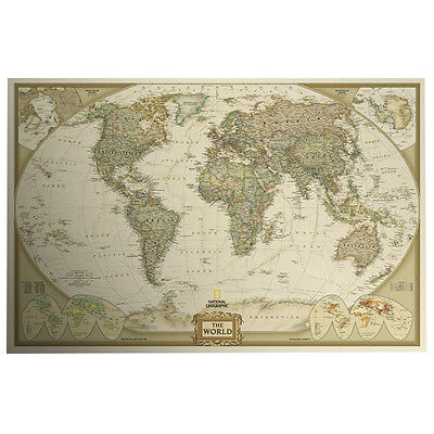 Vintage Retro World Map Antique Paper Poster Wall Chart Home Decor Supplies 2019