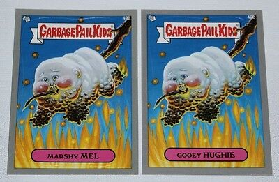 "GARBAGE PAIL KIDS BNS 1 ""SILVER"" Lot of 2 cards # 49 a&b"