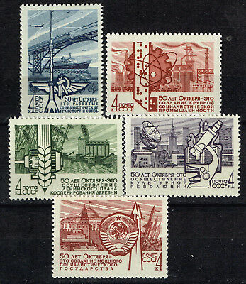 Russia Bolshevik Revolution Soviet Union 50° Anniversario Industries Set 1967