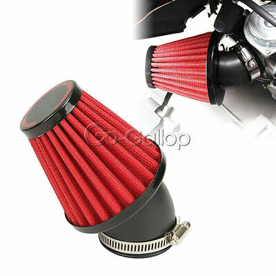 1x 48MM Red Air Intake Filter Pod F Aprilia Area 51 Sonic SR50 WWW SR 50 Lc New