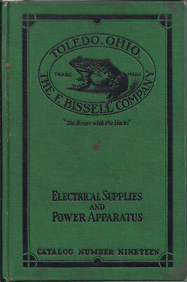 1912 Bissell Electric Co~Catalog~Electrical Supplies & Power~Telephone~Toledo Oh