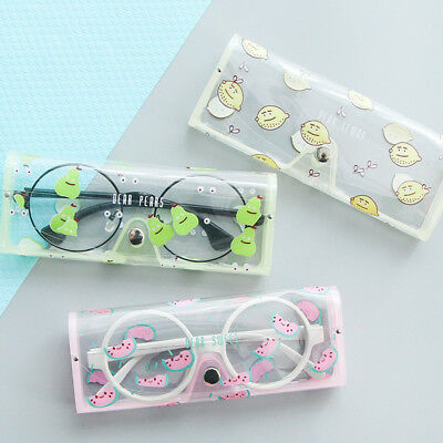 1Pc Fruit Pattern Transparent Eye Glasses Protector Case Student Pen Case New