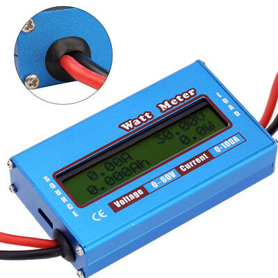 Digital Monitor LCD Watt Meter DC Ammeter Battery Power Useful Analyzer Device