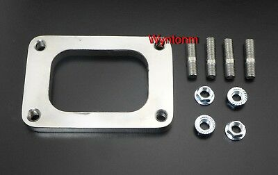 T6 Small Frame Diesel Turbo Inlet TAPPED FLANGE Mild Steel + Studs & Nuts