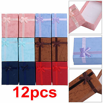12x Jewellery Gift Boxes Bag Bracelet Necklace Ring Display Earring Storage Set