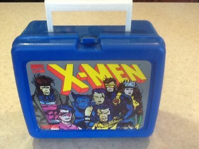 New unused Vintage 1994 Thermos Marvel X-Men Lunch Box Plastic Blue & thermos