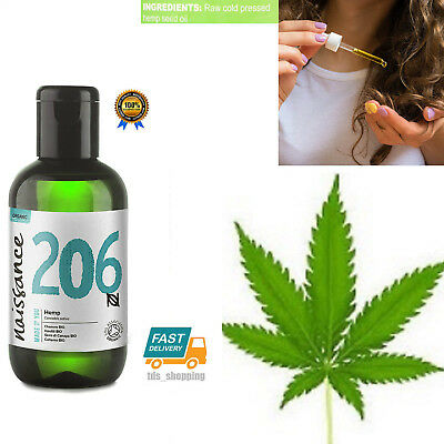 Organic Hemp Seed Oil  - 100% Pure - No Fillers or Additives - 3.4oz Vegan NEW