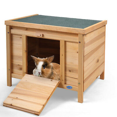 Rabbit Hutch 24'' Pet Habitat Cages Bunny Small Animal Cat House Wooden