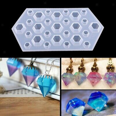Diamond Silicone Mould DIY Kit Jewelry Pendant Resin Casting Craft Making Mold