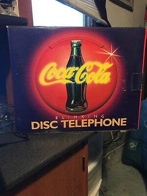 Coca Cola Coke Blinking Light Up Disc Telephone - New Old Stock (1995)