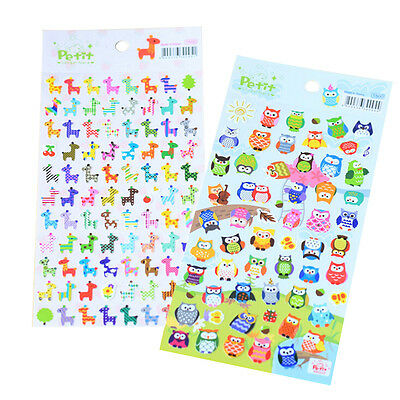 Cute Lovely 3D Bubble Stickers Kawaii Cartoon Animal Sticker Kids Toy Gift SP