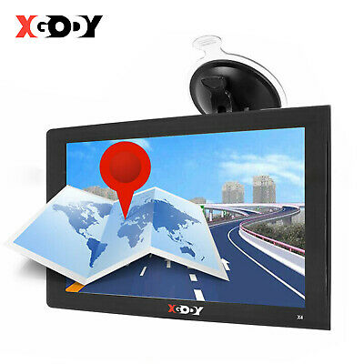 "XGODY 9"" Truck Sat Nav UK & EU Maps POIs For Car HGV Lorry LGV Coach Navigation"