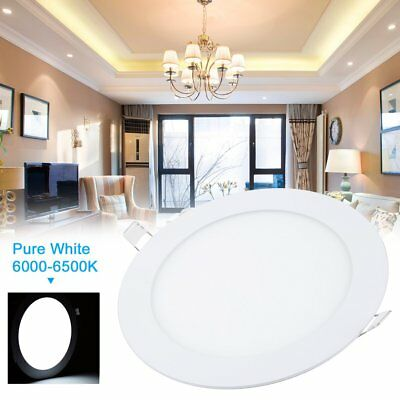 12W LED Recessed Ceiling Lights For Home Office 5 PCS Recessed LED Flat Panels*