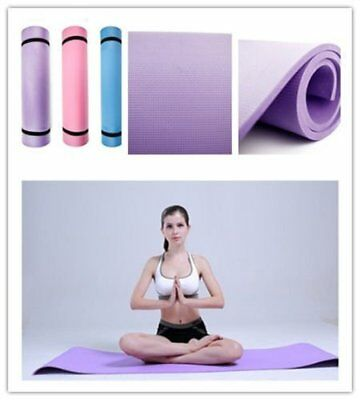 "6mm Thick Non-Slip Yoga Mat Exercise Fitness Lose Weight 68""x24""x0.24"" HOT A8"