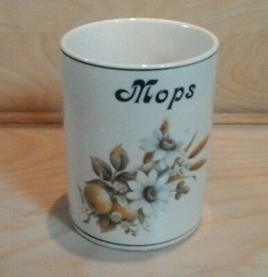 DAWLISH Pottery Mops holder Flowers & Wheat Design