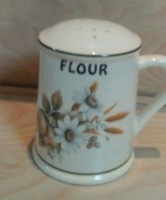 Flour shifter/shaker Flowers & Wheat Design