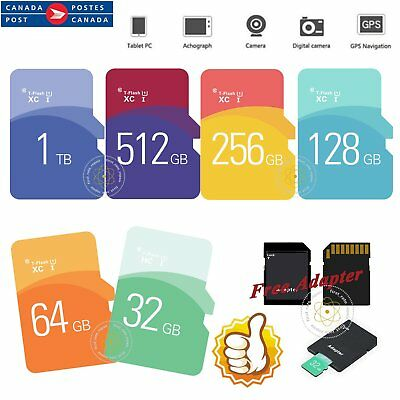 32/64/128/256/512GB/1TB micro SD SDHC SDXC Memory Card TF PC Tablet Camera CA