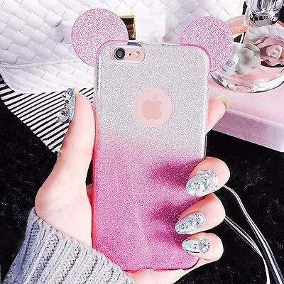 low priced bf13c 35498 GLITTERY DISNEY EARS Mickey Minnie Mouse iPhone 6 PLUS 6S PLUS Case/Cover UK