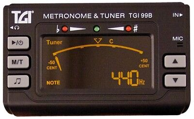 Tgi Guitar Tuner Chromatic Tuner/Metronome With Clip On Mic Electric/Acousitc