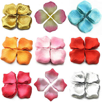 1000Pcs Wedding Scatter Confetti Table Party Silk Fake Rose Flower Petals Pour