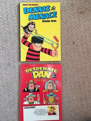 Dandy Beano Desperate Dan And Dennis The Menace Annuals 1991