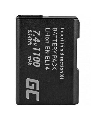 Battery EN-EL14 EN-EL14A for Nikon D3100 D3200 D3300 D3400 D5100 D5200 1100mAh
