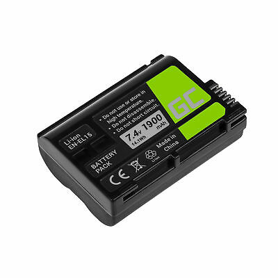 Battery EN-EL15 EN-EL15A for Nikon D850 D7000 D7100 D7200 D7500 1900mAh