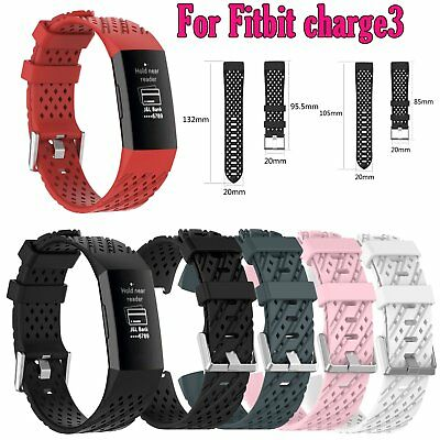 Twill band Silicone Watch Wrist Sports Strap Wristband Repair for Fitbit charge3